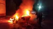 На Сумщині вщент згоріла автівка